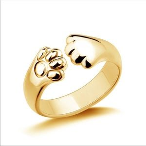 New! Cat claw wrap ring