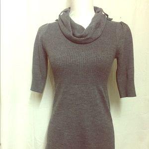 Size Medium Ladies Charcoal Gray Sweater Dress
