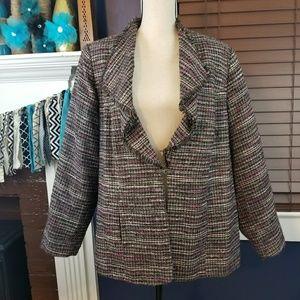 Plus size Women's tweed jacket, blazer 20W
