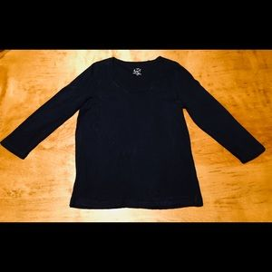Women's J CREW Navy Shirt XL