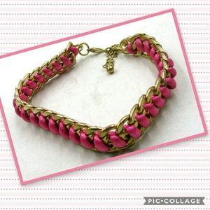 Pretty Pink & Gold bangle Bracelet