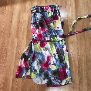 Banana Republic 100% silk summer wrap dress