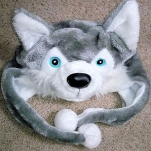 Animal Hat grey husky