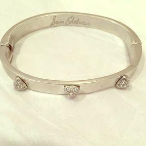 "Sam Edelman ""diamond"" studded silver cuff bangle"