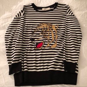 Zara Stripped Sweater w/ Lion Stitching, Size L