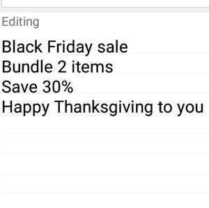 🦃Black Friday sale 🦃