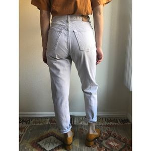 [vintage] button fly GAP tapered mom jeans
