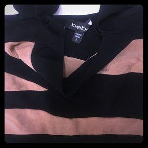 Bebe striped bodycon dress sz S like new