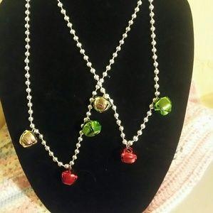Jingle bell necklace & bracelet set