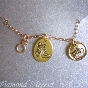 Cinderlla Diamond Accent Charm Necklace