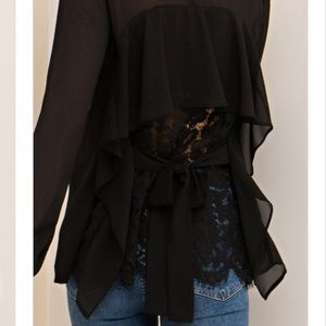 🌟New Arrival- Back Lace Blouse