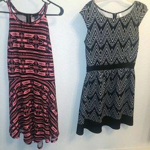 2 aztec print dresses