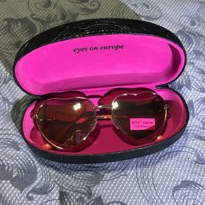Betsey Johnson heart shaped sunglasses