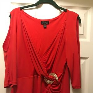 Womans red blouse