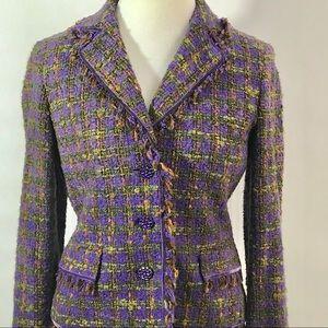 Jones New York Signature tweed blazer size 6