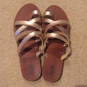 Mossimo Sandals with gold straps