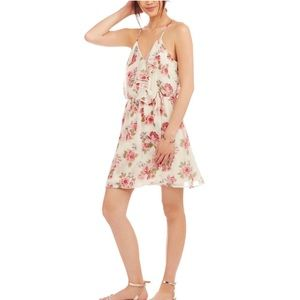 Boho Ruffle Floral Dress- XL