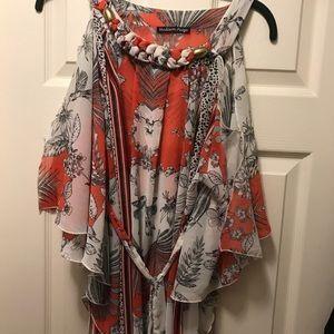 Woman's sheer flowy blouse