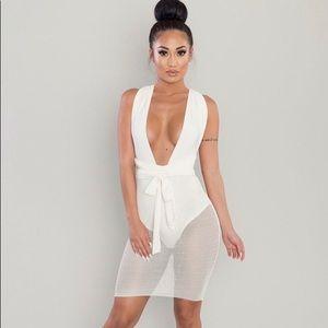 Open mesh Dress