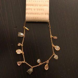 NWOT Anthropologie Gold Charm Bracelet