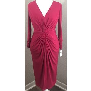 Tadashi Collection Cocktail Ruched Dress NWT