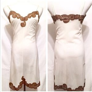 Vintage 1960's Thin Off White Slip / Nightgown