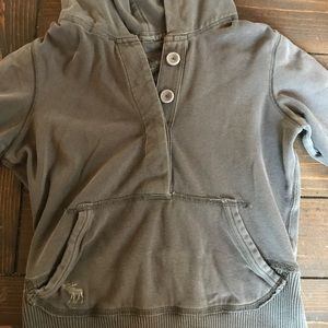 Abercrombie hooded light sweatshirt
