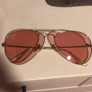 Rayban Authentic Aviator rose glasses