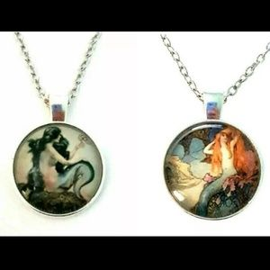Mermaid Necklace 2pc Set