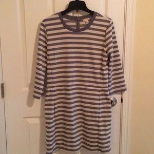 Gap blue striped dress