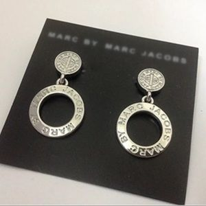 Marc by Marc Jacobs Silver Disc Post Earrings