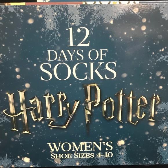 harry potter 12 days socks calendar new