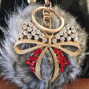 New Rabbit fur Pom Pom Keychain Handbag Decor