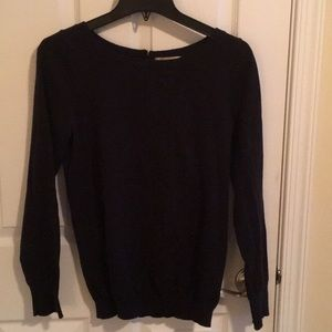 Banana Republic black sweater with zipper back
