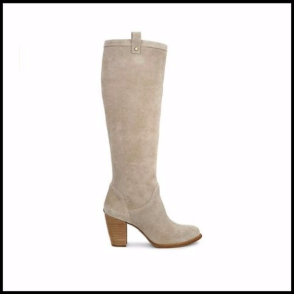 UGG Ava Tall Suede Boot - Natural / Beige NEW