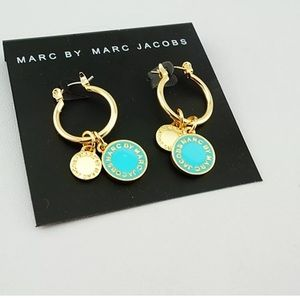New Marc Jacobs Teal & Gold Earrings