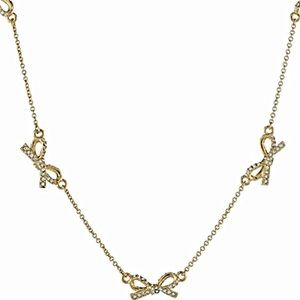 """NWT KS Scattered Pavé Crystal Bows 32"""" Necklace"""