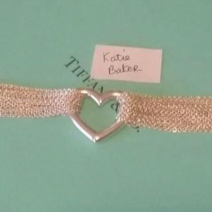 Tiffany & Co multi strand heart toggle bracelet