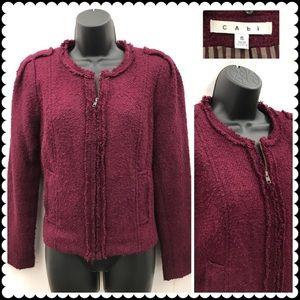 CAbi Blazer Jacket Britt in Merlot/Wine Sz Medium