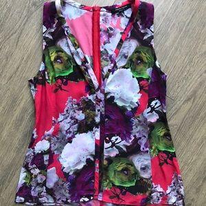 Nanette Lepore sleeveless floral blouse