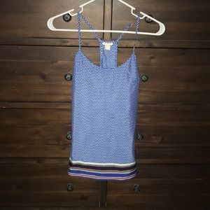 Women's jcrew razor back polyester tank