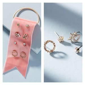NWT Anthropologie 💎 Dainty Earrings Set