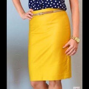 J. Crew Mustard No. 2 Pencil Skirt