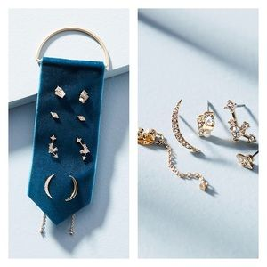 NWT Anthropologie 💎Dainty Earrings Set
