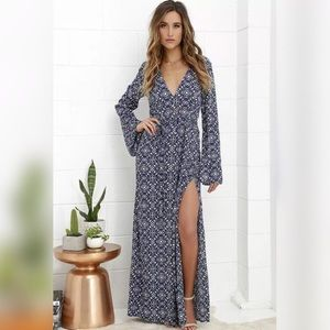 Lulu's Mandala Daydreamer Maxi Dress NWT Small