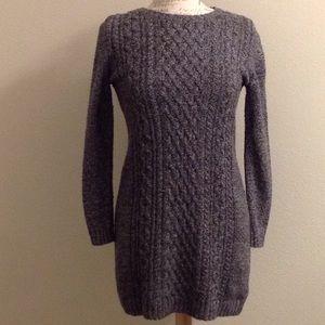 GAP EUC Charcoal Wool Blend Knit Sweater Dress S