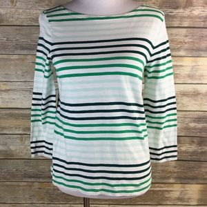 J. Crew striped boatneck shirt striped small