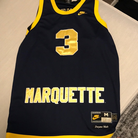 new product 292b4 39dff Dwayne wade Marquette Jersey throwback