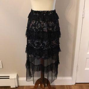 NWT Anthropologie Sheer Tulle Midi Skirt