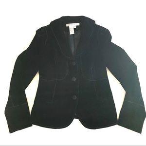 NWOT Studio M black velvet blazer 8